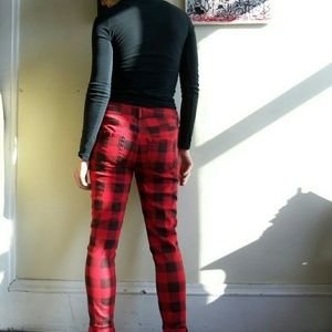 e7f9a5176540 Forever 21 Pants - Forever 21 Plaid Red Skinny Jeans